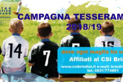 Campagna Tesseramento 2018/19