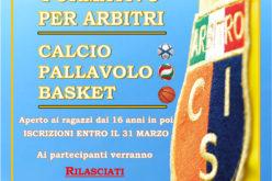 Corso per Arbitri di Calcio/Pallavolo/Pallacanestro