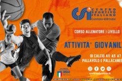 Corso di Formazione per Allenatori di primo livello (attività giovanile) di Calcio a 5 – Pallavolo – Pallacanestro